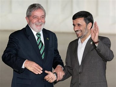 Lula da Silva and Mahmoud Ahmadinejad