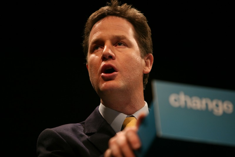 "Nick ""the Kingmaker"" Clegg. Photo by  Dave Radcliffe."