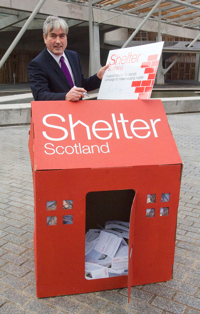 Former Scottish Labour leader Iain Gray. Photo: Shelter Scotland