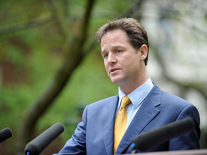 Nick Clegg. Photo: Prime Minister's Office.