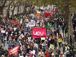 TUC march in London 30 November