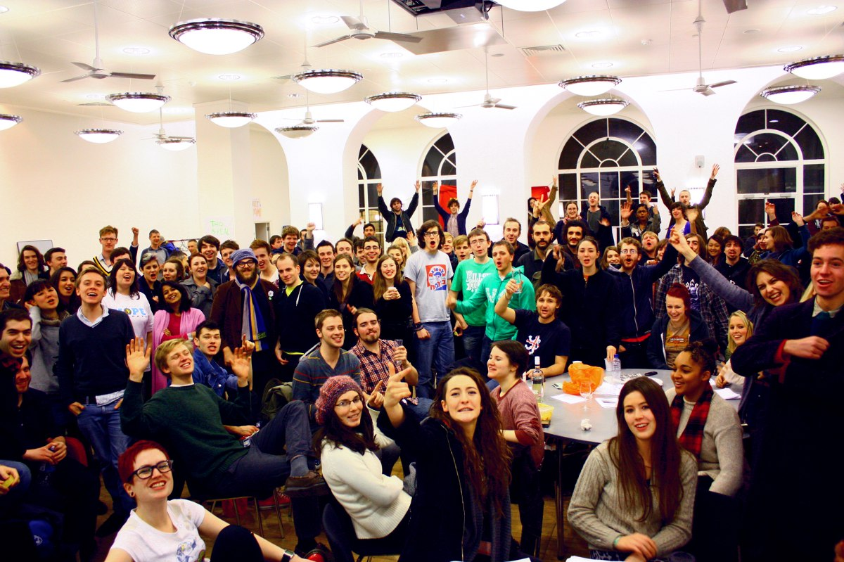 Photograph of the occupation of UCL in London. Photo: blog.ucloccupation.com