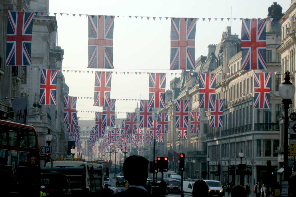A decorated Regent Street. Photo: David Jones