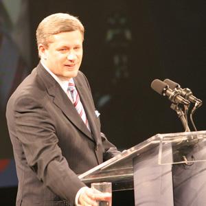 Conservative Prime Minister Stephen Harper
