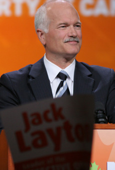 Jack Layton, leader of the New Democratic Party
