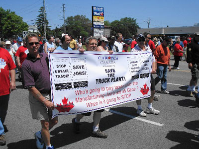 5000 Rally at Oshawa GM Truck Plant