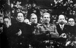 Mao at Stalins 70th birthday celebration in Moscow December 1949