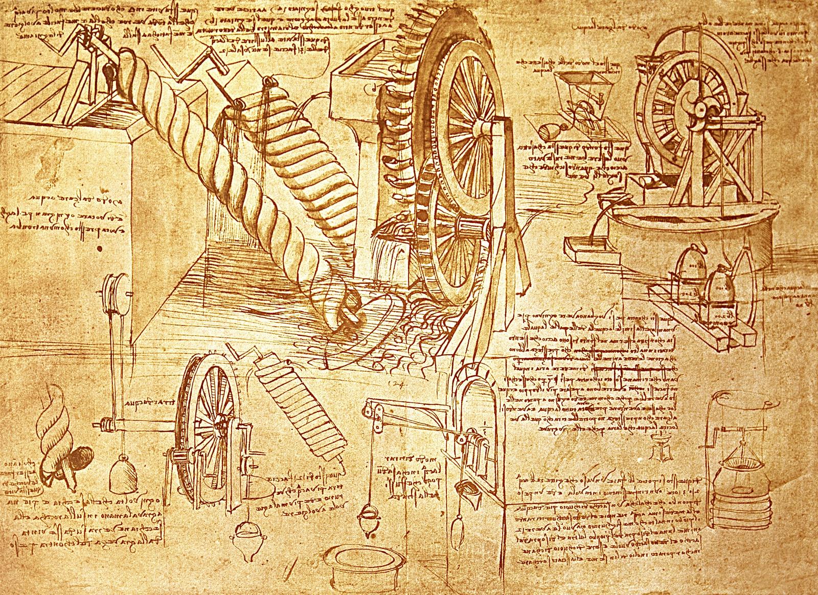 Shenime per shpikjet e Leonardos