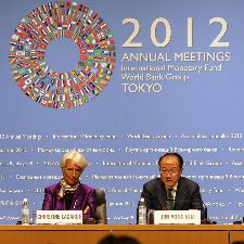 IMF meeting in Tokyo, 13 October. Photo: Simone D. McCourtie / World Bank