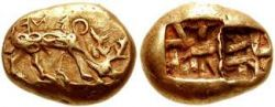 Ephesos coins from 620-600 BC - By Classical Numismatic Group Inc. CC BY-SA 3.0