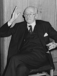 Friedrich von Hayek in 1982. Photo: LSE Library