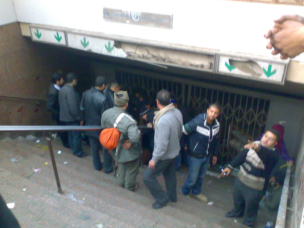 February 3 - Detention Place Demonstrators Use to Keep Thugs and Security they Catch - Photo: RamyRaoof