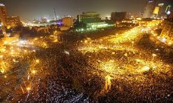 "Tahrir square during the ""Million man march"""