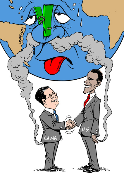 Drawing by Latuff.