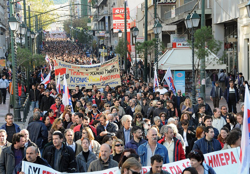 General strike in Athens on December 10, 2008. Photo by solidnet_photos.