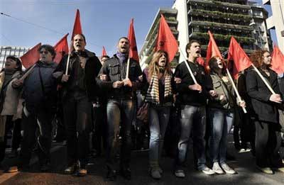 Big general strike in Greece yesterday