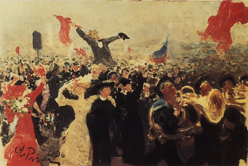 Demonstration October 1905 as perceived by Ilya Repin.