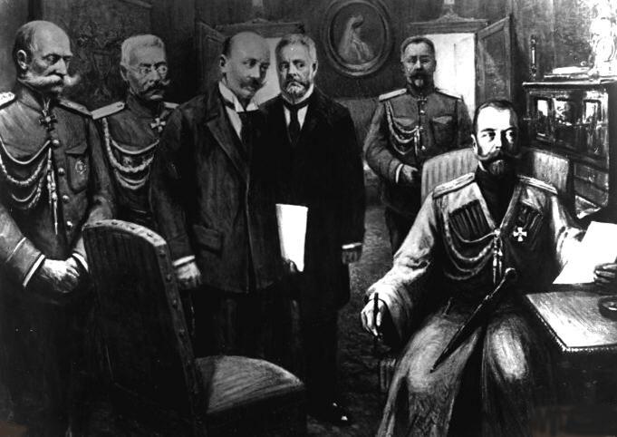 Tsar abdicates