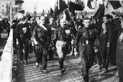 Benito Mussolini Fascists March on Rome 1922-Public Domain