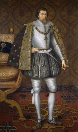 James I - By Attributed to John de Critz the Elder -  Public Domain