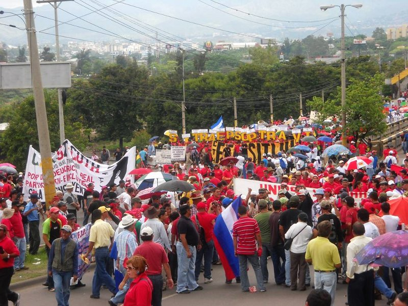 1 May in Honduras.