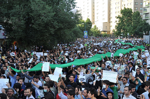 Demonstration in Tehran, June 16. Photo by Milad Avazbeigi.