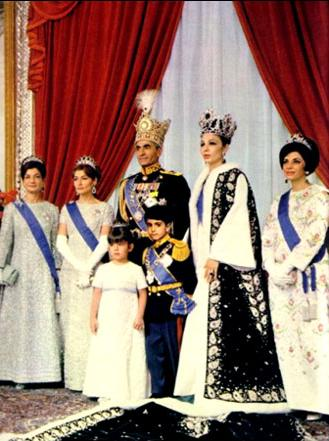 Overthrown Mohammad Reza Shah Pahlavi and his wife, Empress Farah, in 1967