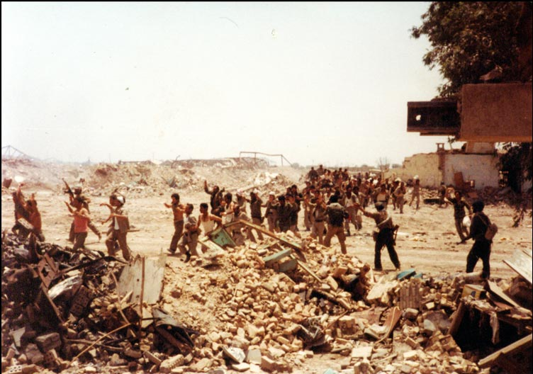 Iranian forces capture Khorramshahr in 1982. Photo by sajed.ir.