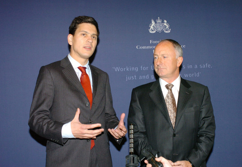 David  Miliband with Dermot Ahern. Photo by Foreign and Commonwealth Office.