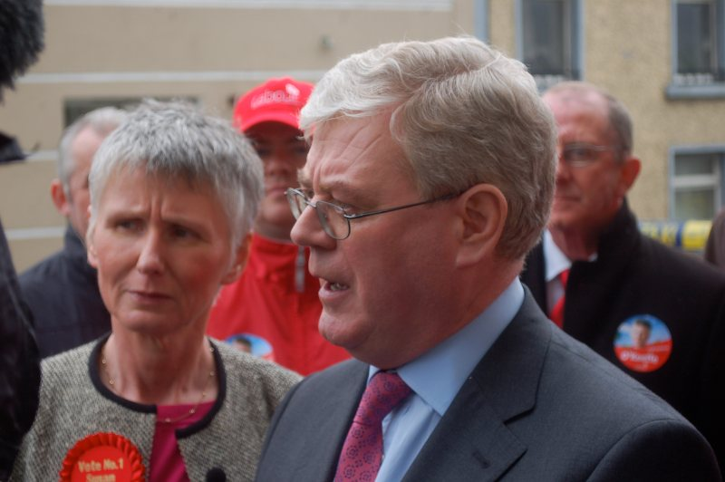 Eamon Gilmore is popular but the Labour Party is lagging behind. Photo by the Labour Party.