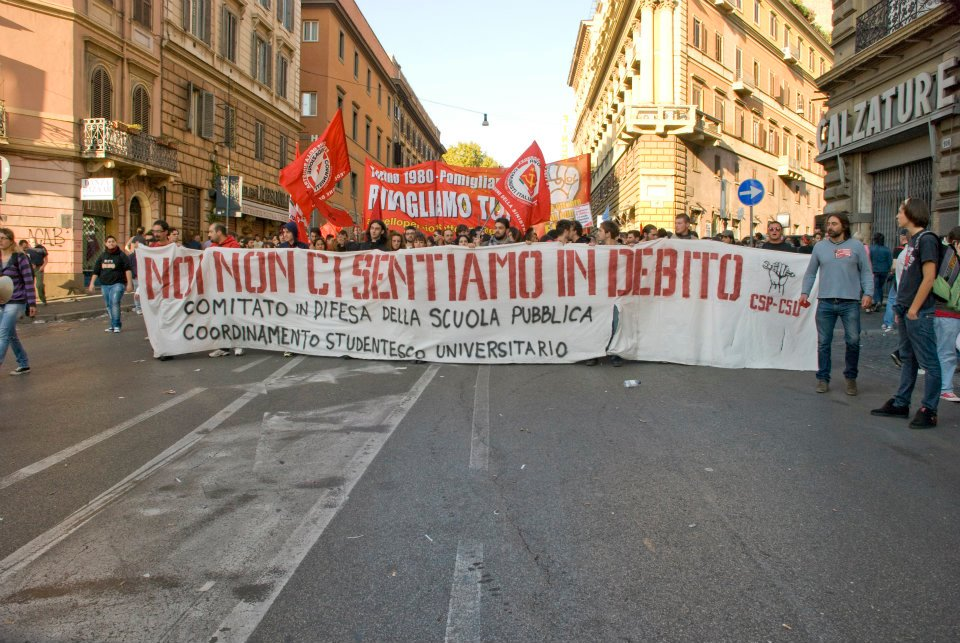 FalceMartello contingent at the demonstration