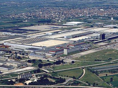 The FIAT factory in Pomigliano