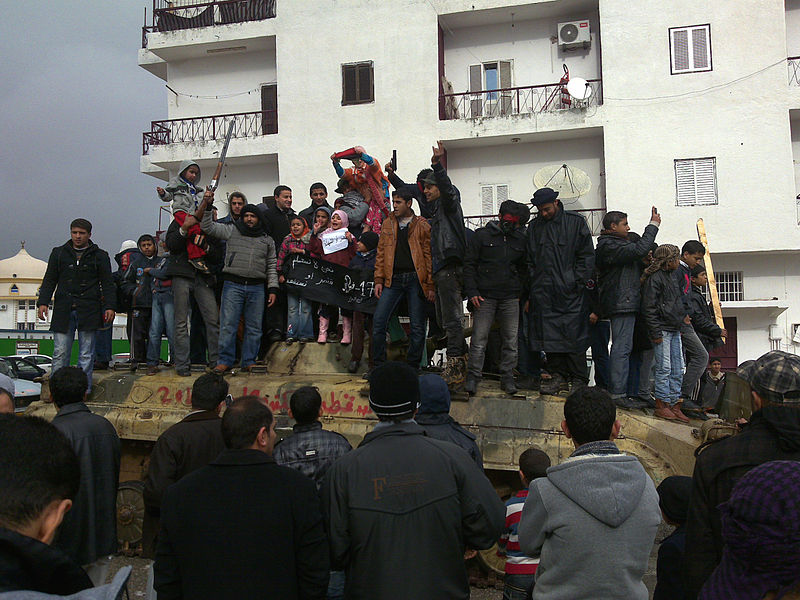 Libyan Rebels Celebrating