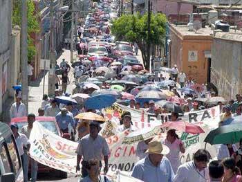 Demonstration demanding the resignation of Ruiz Ortega