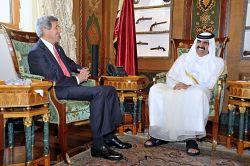 John Kerry and Hamad Bin Khalifa Al-Thani