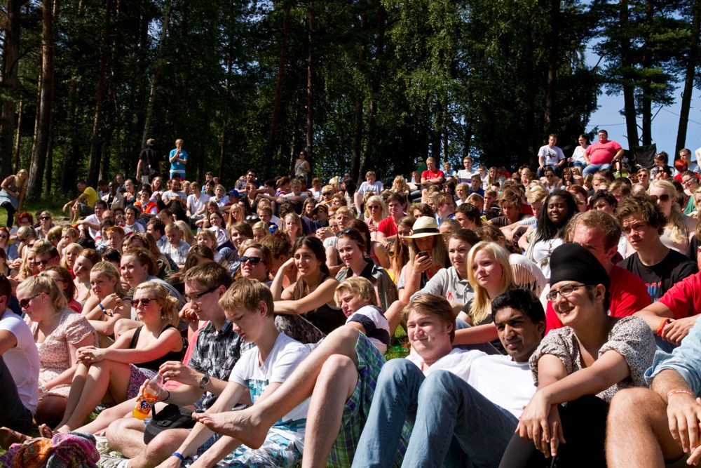 The AUF summer camp only a few days ago. Photo: Arbeiderpartiet