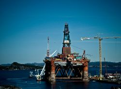 Oil rig at Ågotnes, Norway. Photo: fjords