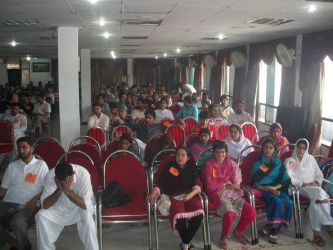 Hundreds of comrades at a recent summer school in Kashmir