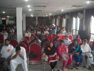 Hundreds of comrades at a recent summer school in Kashmir