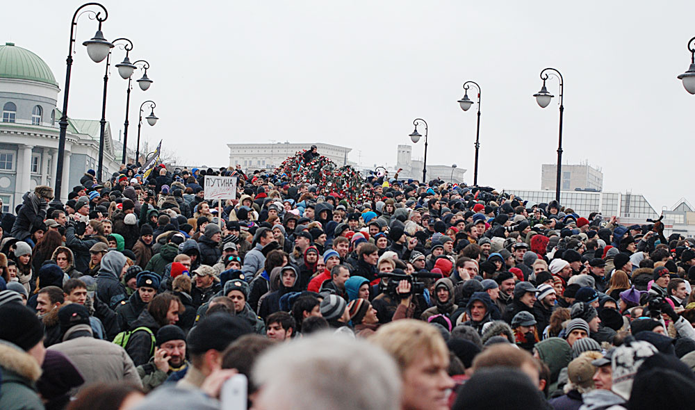 Saturday's protests. Photo: Andrey