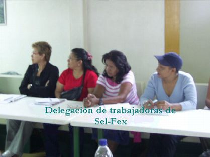 The sel-fex workers at the meeting of the Revolutionary Front