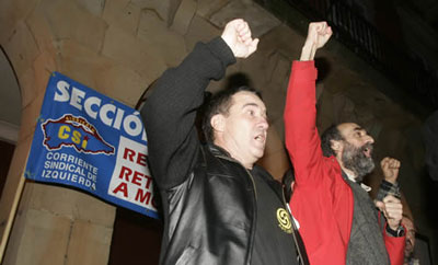 Urgent solidarity: Spanish Trade Union leaders jailed