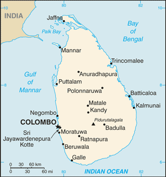 Sri Lanka-CIA WFB Map