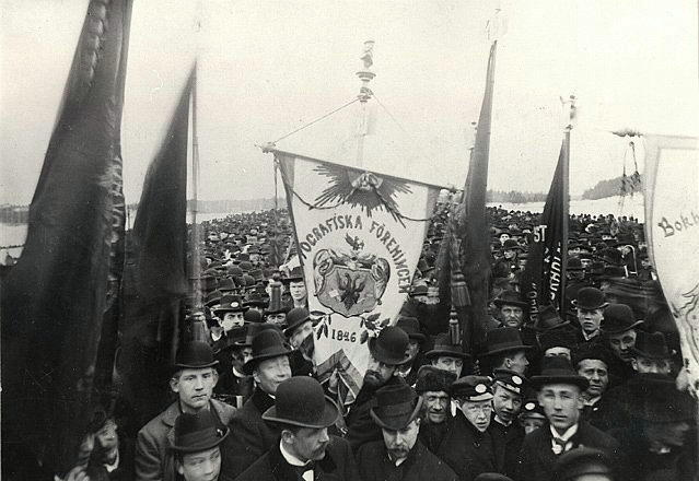 May Day Demonstration in Stockholm, Sweden, 1899