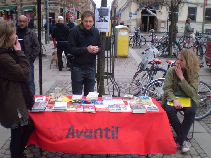 Swedish Marxists on a cold 1 May in Gothenburg.