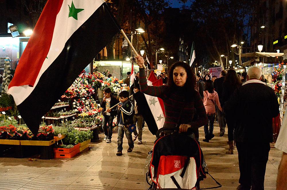 Protest in Barcelona, 12 November. Photo: Teresa Forn