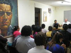 Discussion with students