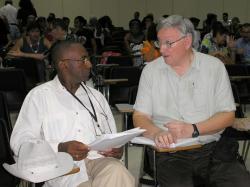 Alan Woods with Juan Sánchez Monroe