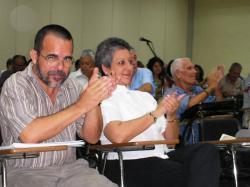 Jorge Santana, Concepción Nieves Ayús and Fabio Grobart