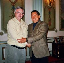 Chavez greeting Alan Woods some years ago